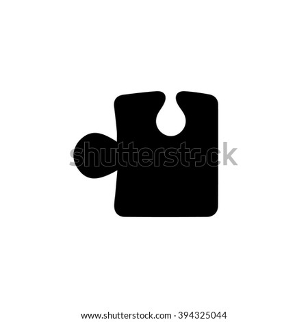 Puzzle icon vector illustration - stock vector