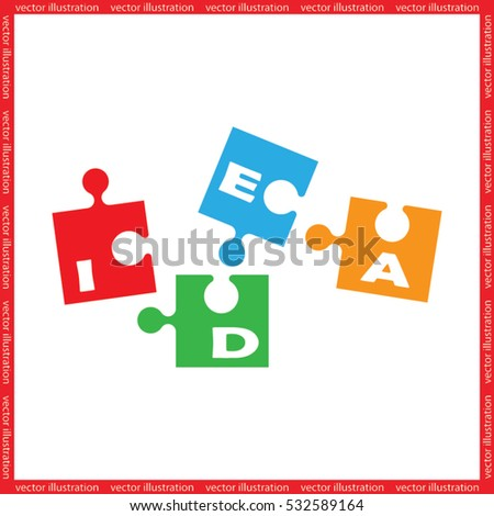 puzzle icon vector illustration eps10.