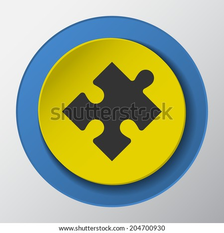 puzzle icon. vector illustrations. - stock vector