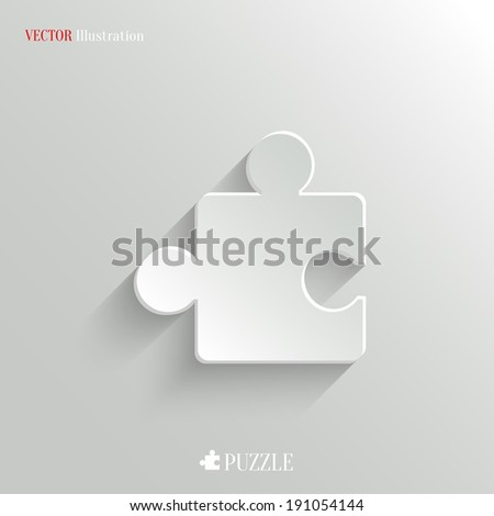 Puzzle icon - vector web illustration, easy paste to any background - stock vector