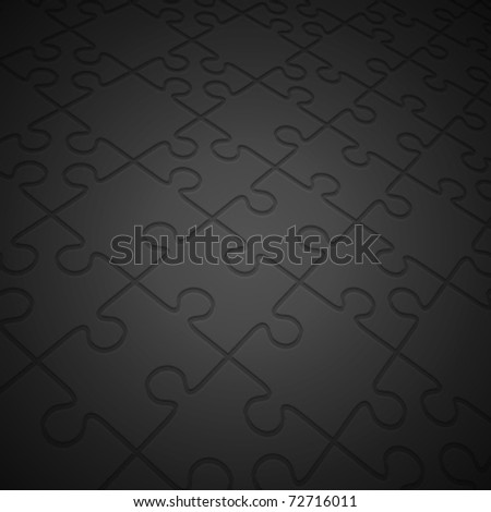 Puzzle in perspective vector background. Eps 10. - stock vector