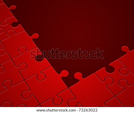 Puzzle in perspective vector background. Eps 10 - stock vector