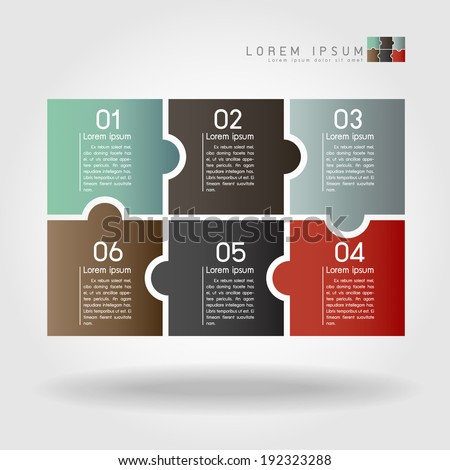 puzzle infographics vector - stock vector