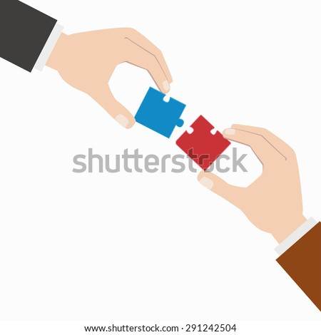 puzzle / jigsaw / business concept / vector / illustration