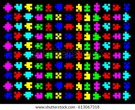 puzzle pattern vector illustration