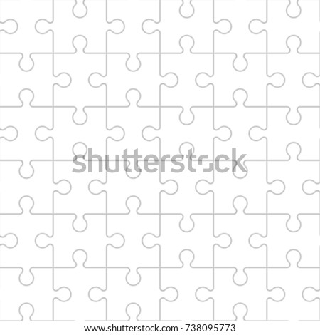 Puzzle piece business presentation. Seamless pattern