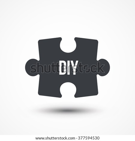 Puzzle piece concept image acronym diy stock vector 377594530 puzzle piece concept image of acronym diy as do it yourself flat icon solutioingenieria Image collections
