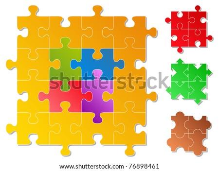 Puzzle Pieces - stock vector