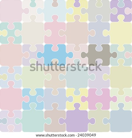 Puzzle seamless background.
