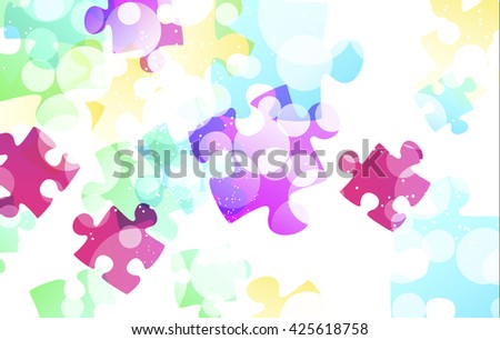 puzzle shapes background