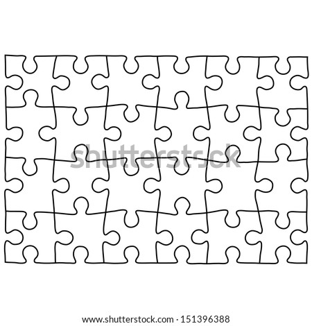 Puzzle template. Background for your business presentation. - stock vector