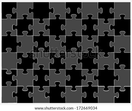 Puzzle-vector illustration for design - stock vector