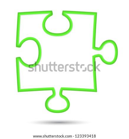 puzzle web icon design element. Vector illustration - stock vector