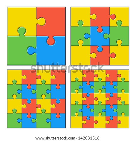 Puzzles - stock vector
