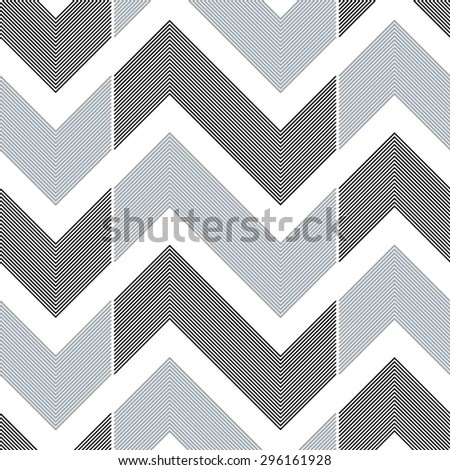 Puzzles in the linear geometric pattern, seamless vector background. - stock vector