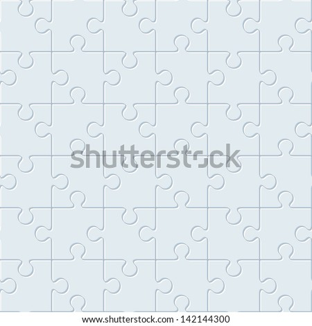 Puzzles. Seamless pattern - stock vector