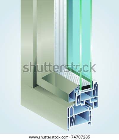 PVC profile - stock vector