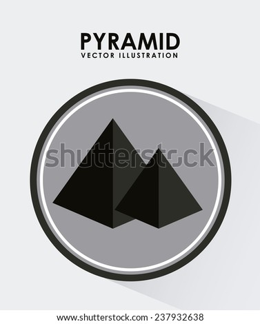 pyramid icon - stock vector