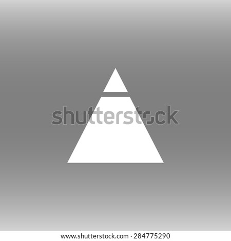 Pyramid icon, vector illustration - stock vector