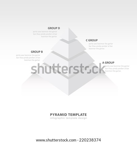 Pyramid Infographic Template 4 Color Stock Vector 220238371