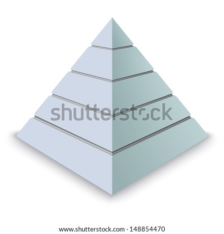 Pyramid levels  - stock vector