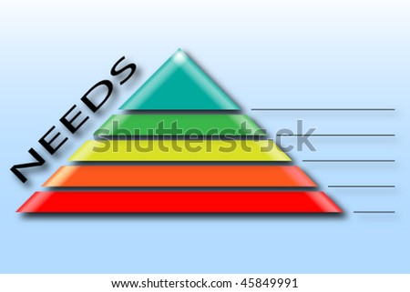 pyramid of needs - stock vector