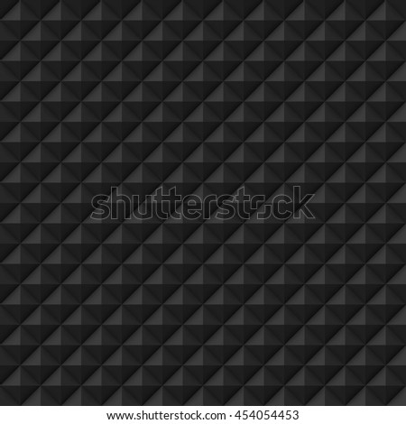 Pyramids white pattern. Vector