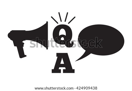 Q And A - Questions And Answers concept - stock vector