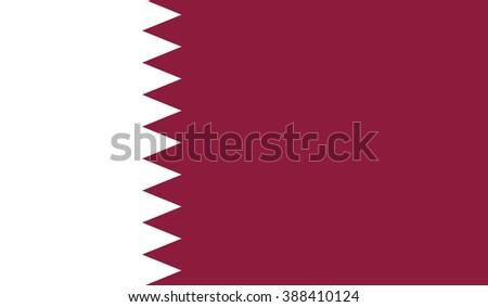 Qatar Flag - stock vector