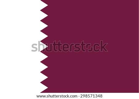 qatar flag vectors - stock vector
