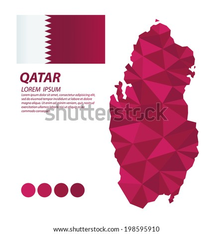 Qatar geometric concept design - stock vector