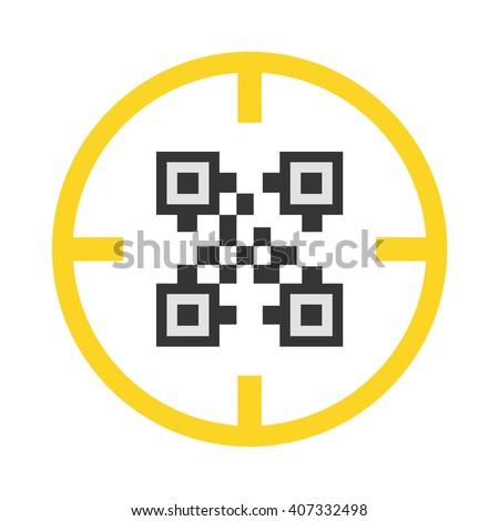 QR-code icon. QR-code icon vector. QR-code icon simple. QR-code icon app. QR-code icon web. QR-code icon logo. QR-code icon sign. QR-code icon ui. QR-code icon flat. QR-code icon eps. QR-code icon art - stock vector