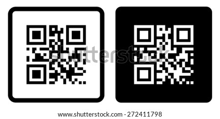 Qr code icon.  Vector illustration - stock vector
