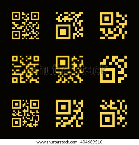QR code icons. Vector illustration - stock vector