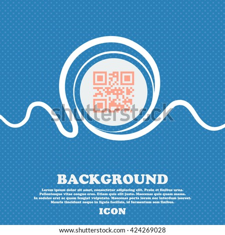 Qr code sign icon. Blue and white abstract background flecked with space for text and your design. Vector illustration - stock vector