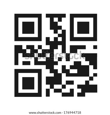 QR code vector illustration isolated - stock vector