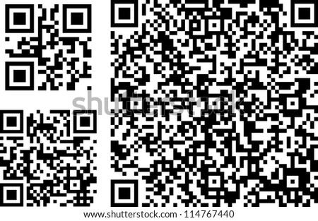 QR codes of different complexity - stock vector