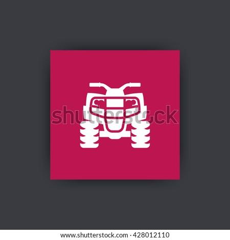 quad bike, quadricycle icon, vector illustration - stock vector