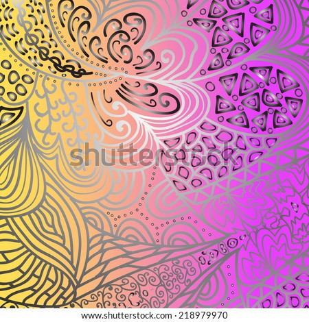 Quadrate bright varicolored pattern for design