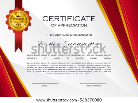 Qualification certificate appreciation design elegant luxury stock qualification certificate of appreciation design elegant luxury and modern pattern best quality award template yelopaper Image collections