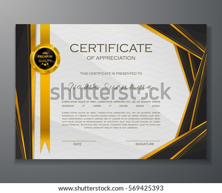Qualification certificate appreciation design elegant luxury stock qualification certificate of appreciation design elegant luxury and modern pattern best quality award template yadclub Gallery