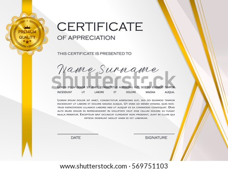 Certificate Of Appreciation Stock Images, Royalty-Free Images