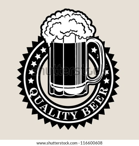 Quality Beer Seal / Badge - stock vector