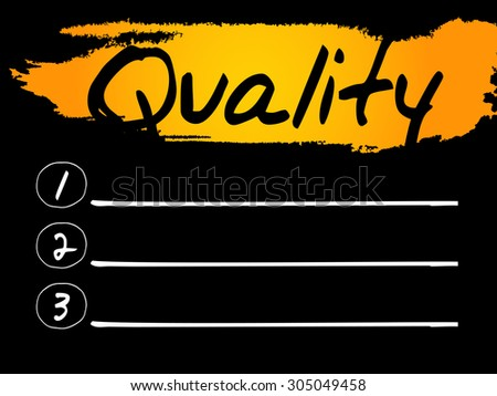 Quality Blank List, vector concept background - stock vector