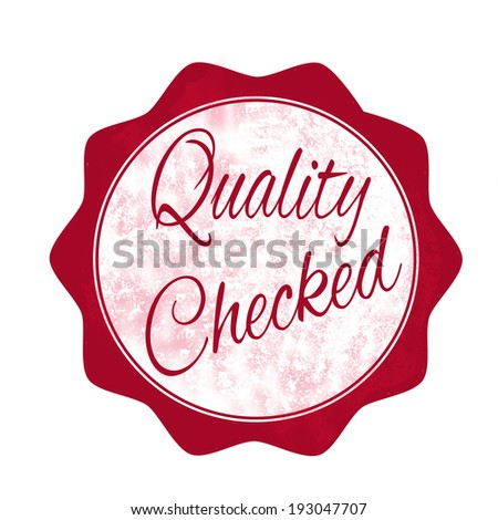quality checked grunge stamp with on vector illustration