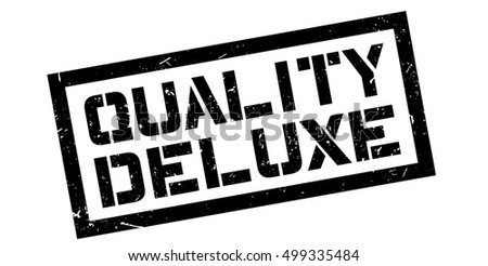 Quality Deluxe rubber stamp on white. Print, impress, overprint.