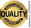 Quality guarantee golden label, vector illustration - stock photo