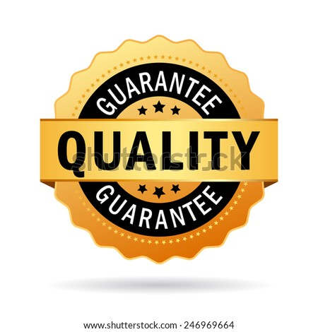 Quality guarantee icon - stock vector