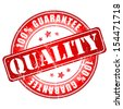 Quality guarantee stamp.  Vector illustration. - stock photo