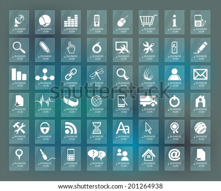 Quality icon Set (Service, Medical, Media, Mail, Mobile, ,Web , Camping icons, Butterfly)  - stock vector